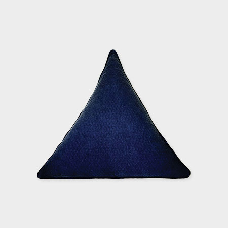 Triangle Pillow Indigo