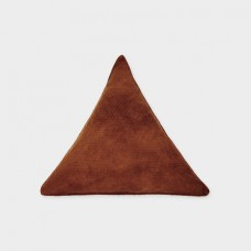 Triangle Pillow Red Wood